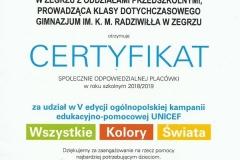 certyfikat-unicef